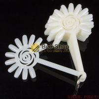 Wholesale pc set Acrylic Sunflower Natural Color Plastic False Nail Art Tips Sticks Polish Display Fan Salon Tool