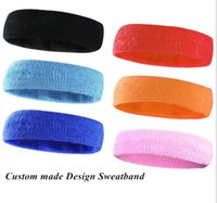 Wholesale 2016 New custom made Sweatband Sports Safety headgear for Basketball Tennis Volleyball Badminton Sweatband Hoods Gymnastics