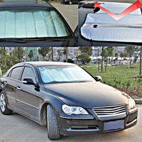 Wholesale Foldable Car window Film sunshade solar Protectection Windshield Front Rear Sunshade Visor Cover Block cm