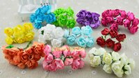 Wholesale diy small bouquet of roses in the number of paper flowers simulation plum bracelet handmade garland rattan accessories cm