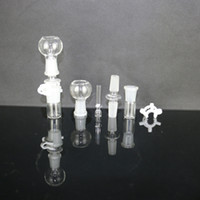 plastic clip - oil rig glass male male adapter dome glass nail plastic clip recycler bottom set for water pipe