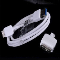 Cheap Micro USB 3.0 Charger Cable 1M 3FT White and black Color Cord Lead For Samsung Galaxy S5 i9600 Note 3