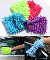car wash sponge - 500PCS HHA123 Car Hand Soft Cleaning Towel Microfiber Chenille Washing Gloves Coral Fleece Anthozoan Car Sponge Wash Cloth Car Care Cleaning