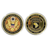 airborne coin - Us Military Souvenir Coin mm The Army Of st Airborne Division Antique k Gold Plated Coin New Vintage Nice Craft
