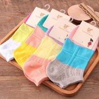 2015 Calcetines 15 años los nuevos modelos de primavera modelos de barco calcetines de las señoras del algodón par hechizo color de aguja jacquard tornillo calcetines cortos al por mayor de la fábrica