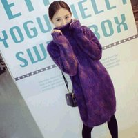 Wholesale Autumn and winter in the Korean version of the Turtleneck Sweater women end of long bi fold wallets slim and wool mohair sweater dress padde
