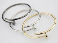 Wholesale New Vintage DESIGNER INSPIRED Stainless Steel Cuff Bangle Screw Nail Bracelet