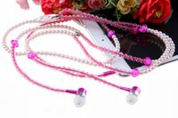 studio flash - In ear Noise isolating Earbuds Headphone flashing Pearl necklace girls Earphone headset with mm For Phone Mp3 LL
