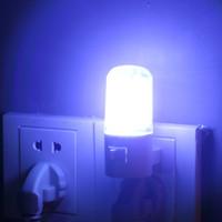 Wholesale 4 LED Wall Mounting Bedroom Night Lamp Light US Plug Lighting Bulb AC W