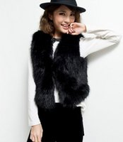 Wholesale The new bit small coat plush waistcoat imitation fur vest female ma3 jia3 brief paragraph special bag mail