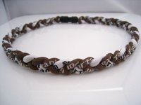 beaded tornados - Titanium Germanium Ropes Braid Tornado Necklaces Sport Energy Necklace