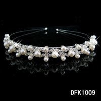 Wholesale 2016 New Arrival Bridal Hairbands Romantic Crystal Pearls Head Pieces Shining Beaded Rhinestone Women s Headbands For Prom Evening Party