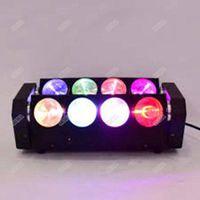 Wholesale 8pcs Moka MK M16 RGBW led beam moving head spider light DMX DJ stage lighting Musical Instruments