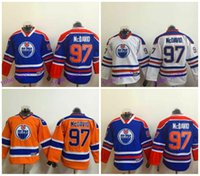 authentic youth jerseys - Youth Connor McDavid Jersey Kids Orange Throwback Alternate Blue White Edmonton Authentic Hockey Jersey Cheap Stitched