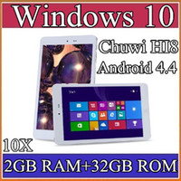 "Cheap 10X Chuwi HI8 Tablet PC Dual OS Windows 10 & Android 4.4 Dual Boots Bay Trail Z3736F 2GB 32GB Quad Core 8"" 1920x1200 IPS BT OTG 2-8PB"