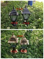 american pool light - American rural outdoor wall outdoor wall lamp headlights courtyard garden gate post railing corners LED lights