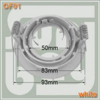Wholesale 50pcs spotlight fitting GU10 MR16 holder downlight fittings downlight holder white face High quality Aluminum