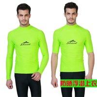 acrylic printing services - New arrival male split submersible service anti uv aureateness swimwear long sleeve incubation top surf suit rashgard