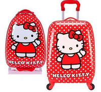 Wholesale Cartoon hello kitty Universal Wheel Board Chassis Suitcase Trolley Luggage Bag Material Impact Strong inch inch