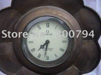 antique phonographs - Rare Atlantic Copper phonograph Mechanical Clock cm cm