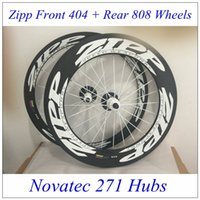 zipp - Best match front zipp rear zipp carbon wheels C bike wheelsets with white Novatec Hubs white decals and spokes