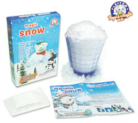 fake snow - In Stock Magic Prop DIY Instant Artificial Snow Powder Simulation Fake Snow for Party Christmas Decoration
