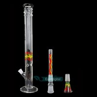 Electronic Cigarette water pipes - 56CM ROOR Glass Pipes hookah ROOR Bong Glass Water Pipe Beaker Bong Water Percolator Pipes Joint Size Smoking Bongs
