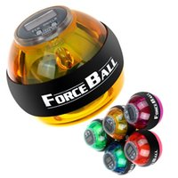 Wholesale by DHL or EMS pieces Power Ball Gyroscope Wrist Strengthener Ball Wrist Power Force Ball Arm Exercise Power Ball