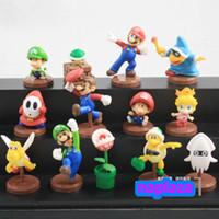 Wholesale EMS Super Mario Bros Luigi Cartoon Figures toy Brand New per set