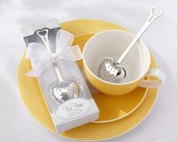 Wholesale New arrivel Tea Time Heart Tea Infuser spoon with white giftbox Wedding Favors