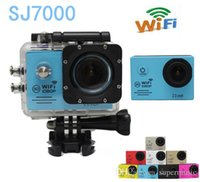 Wholesale SJ7000 WIFI CAM Waterproof M Sport DV P Mini Action Camera Mini Portable Camcorders DVR Helmet Camera