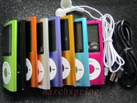 Wholesale Slim TH quot LCD MP3 MP4 speaker Video Radio FM Player Support GB GB GB GB SD TF Memory Card
