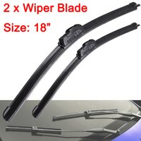 Wholesale A Pair High Quality Universal Frameless Rubber Window Windshield Wiper Blade Fit U type Hook