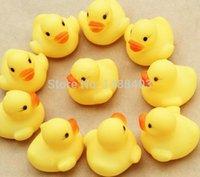 Cheap 20pcs lot Wholesale Mini Bath Duck Sound Floating Rubber Ducks Squeeze-sounding Dabbling Toy Rubber Duck