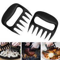 Cheap Wholesale-Hot Polar Bear Paws Carve Claws Meat Handle Fork Tongs Lift Shred Lift Pork BBQ Grill Pork Randomly