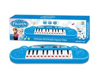 Wholesale Musical instruments toy for kids Frozen girl Cartoon electronic organ toy keyboard electronic baby piano with music song DHL