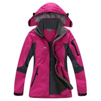 Wholesale Hot sales women skiing twinset jackets waterproof windproof breathable outdoor hiking fishing climbing outerwear