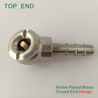 air hose repair - x28mm Hose Barb Ball Foot Air Chuck Closed End Design Nickle Plated Brass Tire Tyre Inflator Gauge Fitting Tire Repair Tools