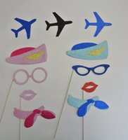 airport airlines - Nautical Photo Booth Props Airport Airlines aviation fly wedding bridal shower party photobooth decorations masks