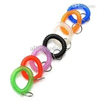 assorted wrist bands - Assorted Color Plastic Spiral Coil Wrist Band Key Ring Chain