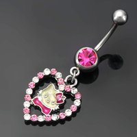 bell collection - 2015 New Collection Navel Piercing Trendy Dangle Belly Rings Cute Cats Design Belly Button Ring Body Piercing Jewelry For Women Men