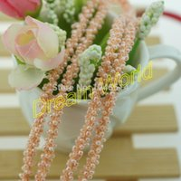 Wholesale packing yards pink rope for clothing accessory retail and DIY rope for craft hair accessory material