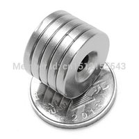 Wholesale 5pc Strong Countersunk Magnets mm x mm Hole mm Rare Earth Craft Neodymium order lt no track