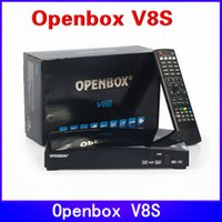Wholesale DHL Original Openbox V8S satellite receiver V8 support xUSB USB Wifi WEB TV Cccamd Newcamd YouTube Weather Forecast Biss Key