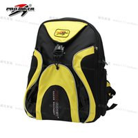 Wholesale 2016 Pro biker motorcycle helmet bag ride backpack bag multifunctional big capacity tool bag yellow black