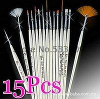 Wholesale Hotsale Colors set bag Professional Painting Pen Nail Art Tool Brushes Sets X11