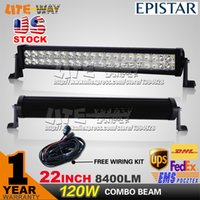 used boats - 120W INCH LED LIGHT BAR LED DRIVING LIGHT COMBO BEAM ESPISTAR CHIP FOR OFFROAD MARINE BOAT TRACTOR ATV x4 UTV USE