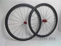 Wholesale greatkeenbike mm mm basalt brake carbon wheelset clincher Novatec hub black spokes black nipples carbon wheelset speed