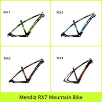 Wholesale Mendiz RX7 Full Carbon Mountain Bike Frame MX1 MX4 Colors Outdoor Sports Cycling Kits Blue Green Red Orange Bicycle MTB Frameset