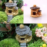 Wholesale 2015 Stone Fairy Garden Miniature Craft Micro Cottage Landscape Decoration Random Style For DIY Resin Crafts Decoration